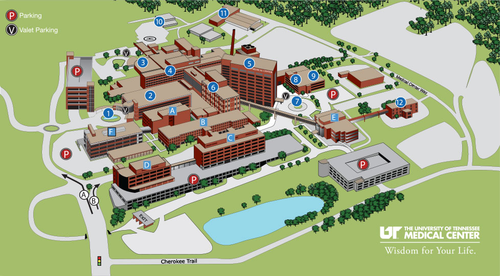 University Of Tn Campus Map Campus Maps   University of Tennessee, Health Science Center